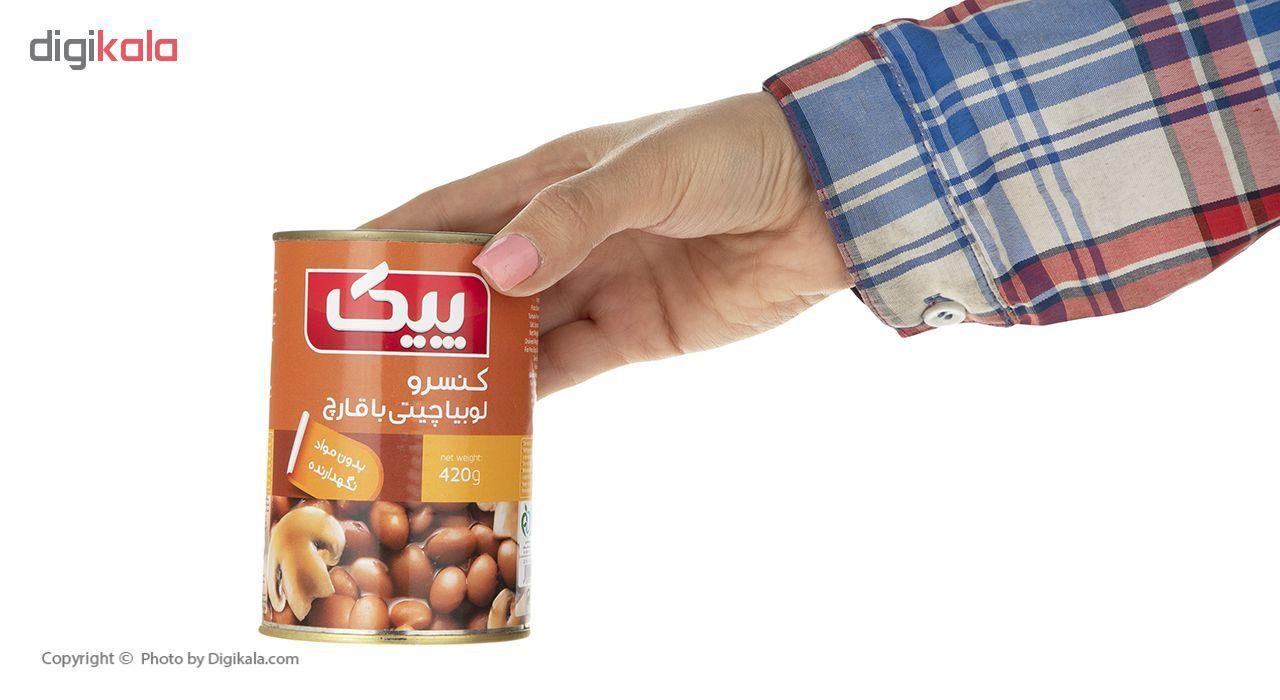 کنسرو لوبیا چیتی با قارچ پیک - 420 گرم main 1 5