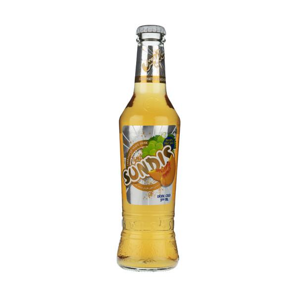 نوشیدنی انگور گازدار ساندیس با طعم هلو حجم 300 میلی لیتر