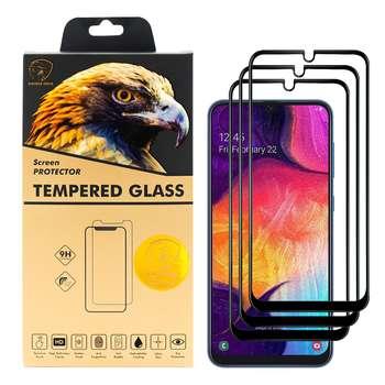 محافظ صفحه نمایش گلدن ایگل مدل DFC-X3 مناسب برای گوشی موبایل سامسونگ Galaxy A50 بسته سه عددی