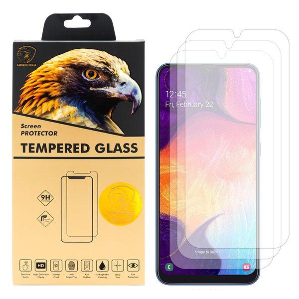 محافظ صفحه نمایش گلدن ایگل مدل GLC-X3 مناسب برای گوشی موبایل سامسونگ Galaxy A50 بسته سه عددی