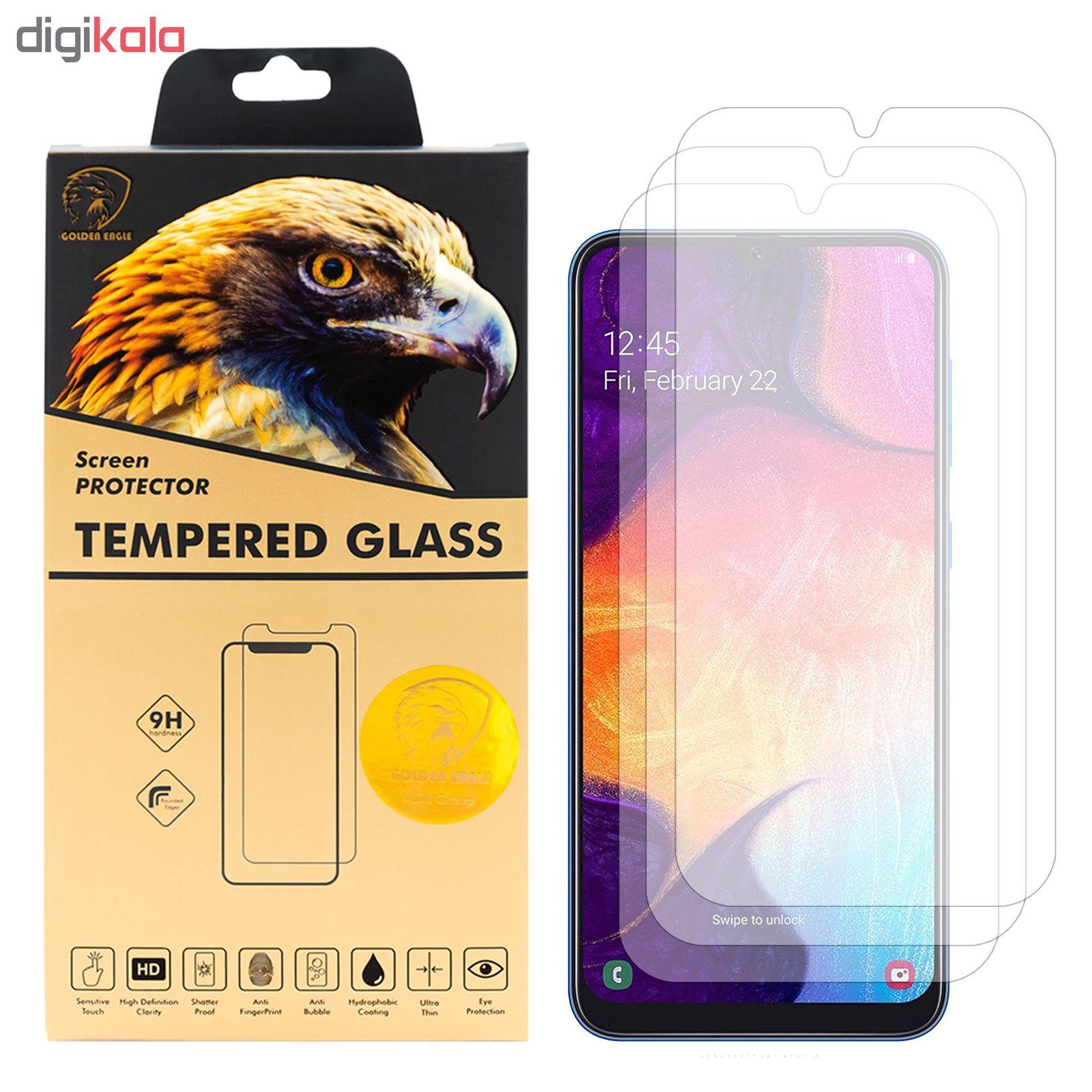 محافظ صفحه نمایش گلدن ایگل مدل GLC-X3 مناسب برای گوشی موبایل سامسونگ Galaxy A50 بسته سه عددی main 1 1