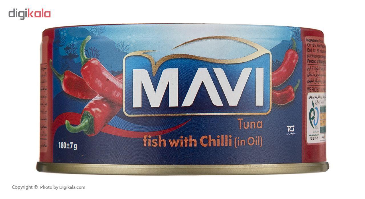 کنسرو ماهی تون با فلفل قرمز ماوی (در روغن )مقدار 180 گرم main 1 3