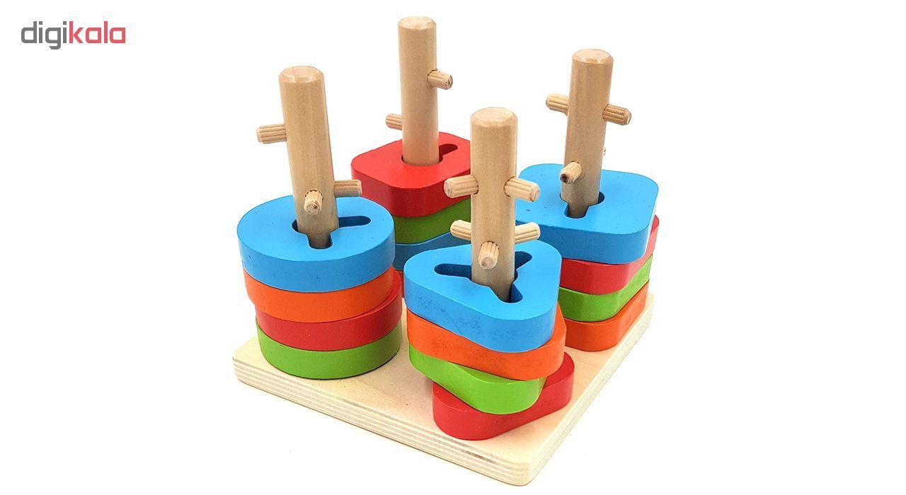 بازی آموزشی مونته سوری اشکال مدل Four Columns