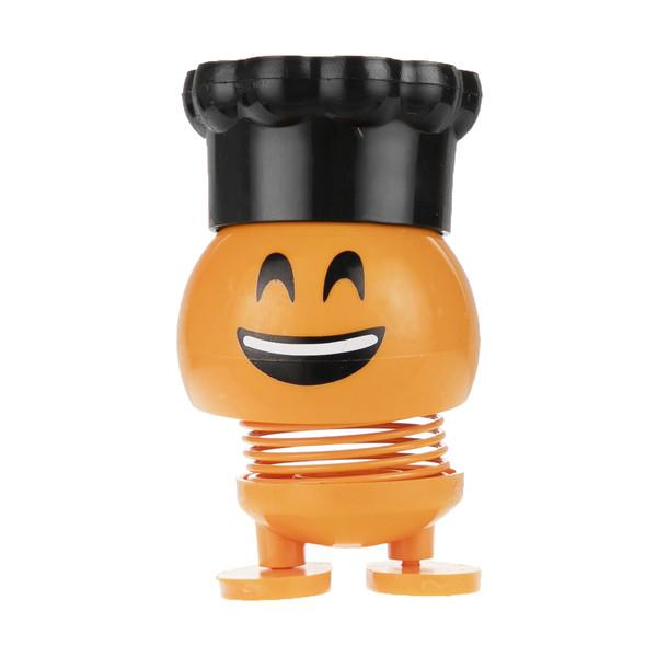 عروسک فنری   طرح ایموجی کلاه دار مدل M-77-777