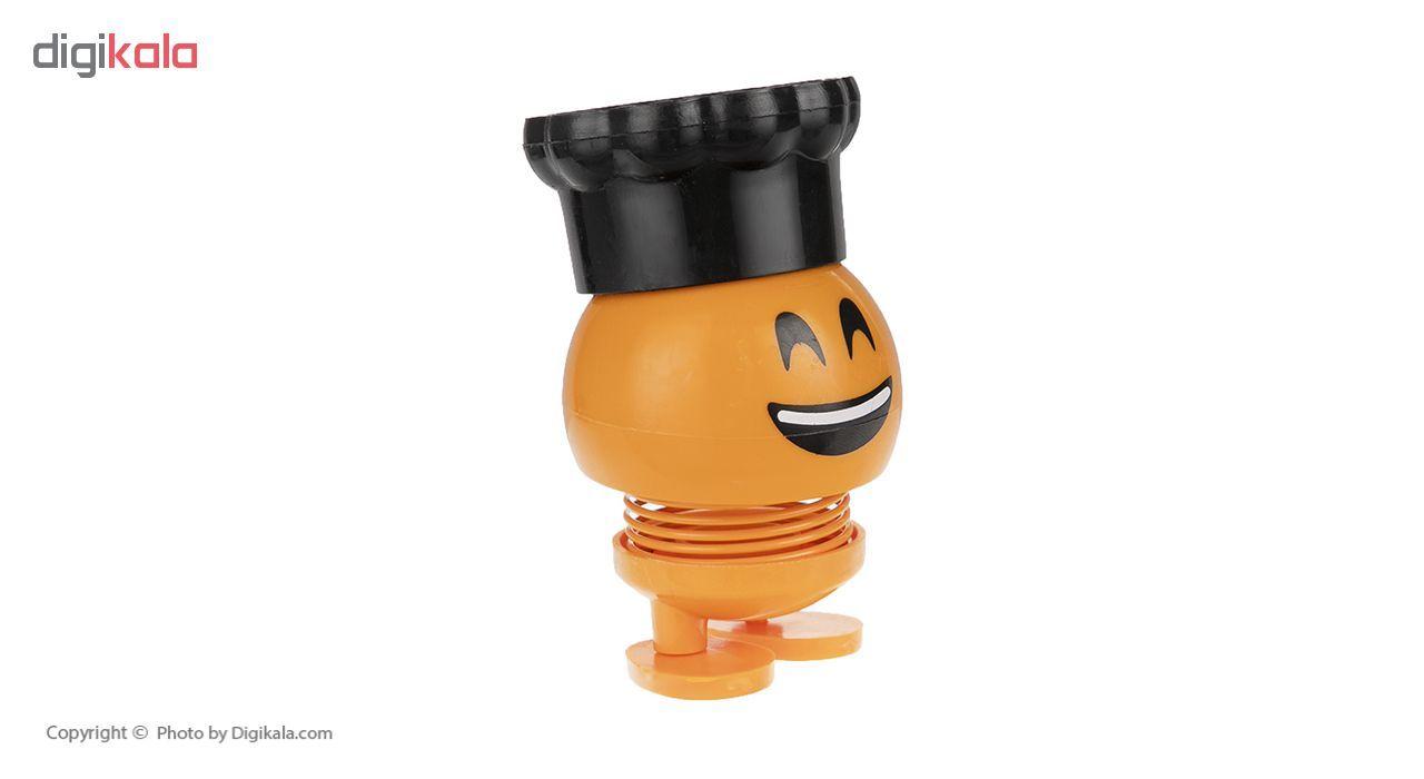 عروسک فنری   طرح ایموجی کلاه دار مدل M-77-777 main 1 2