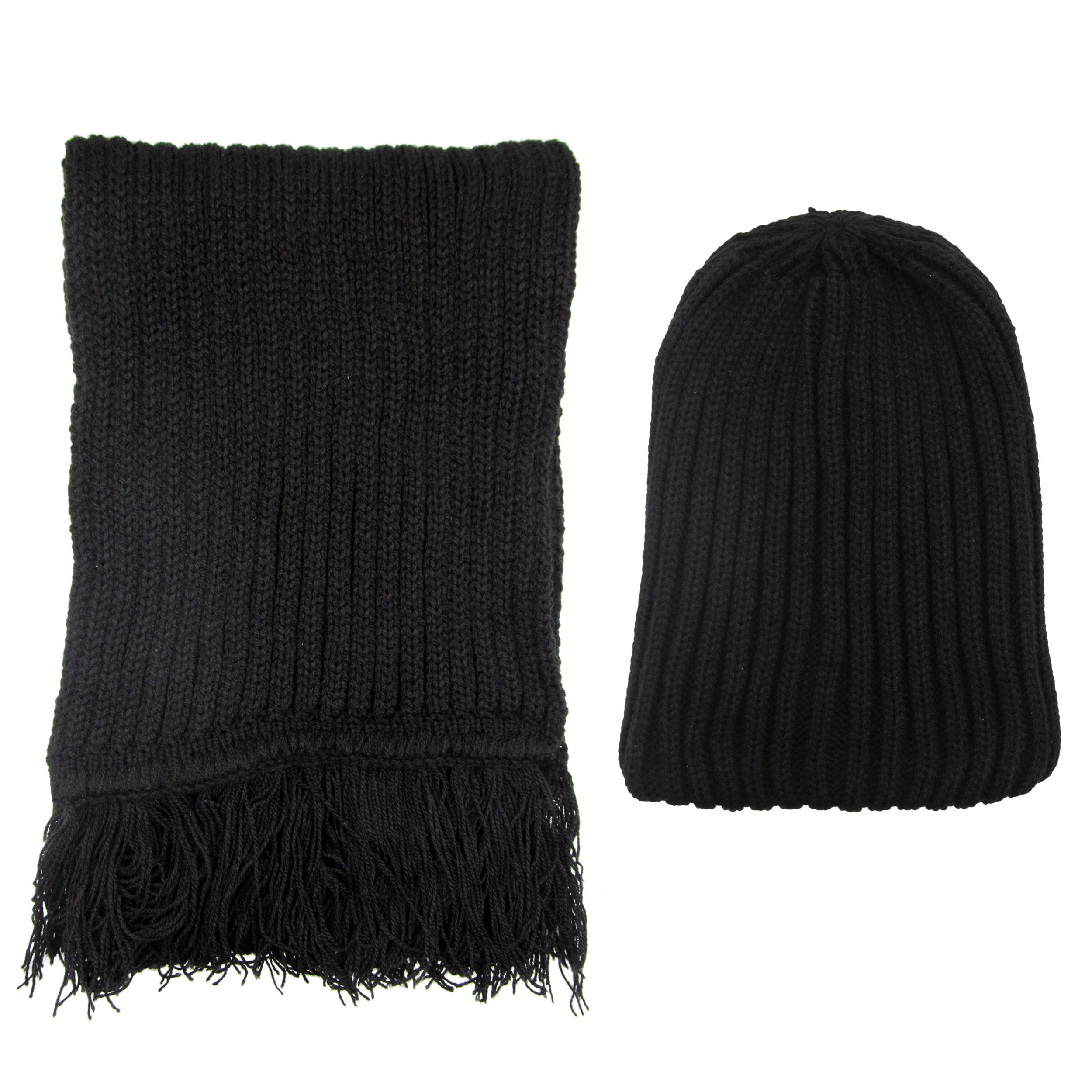 ست کلاه و شال گردن بافتنی مردانه کد 1597