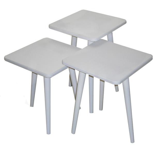 میز عسلی مدل 123 کد 02 مجموعه 3 عددی