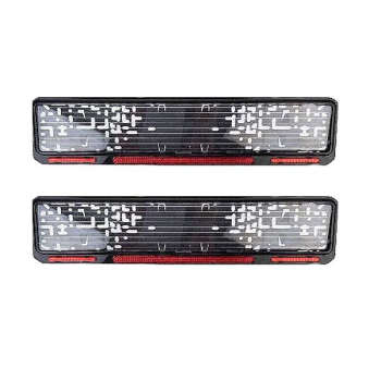 قاب پلاک خودرو مدل dan201 بسته دو عددی
