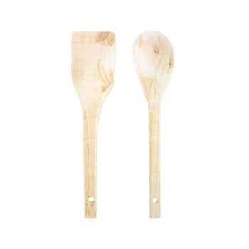 کفگیر چوبی مدل Kaj مجموعه 2 عددی