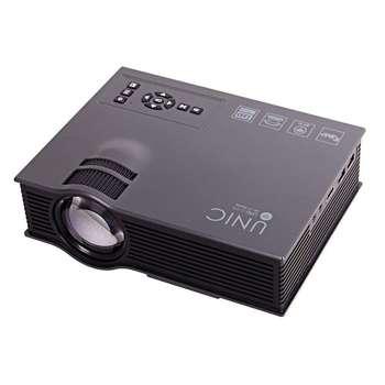 تصویر ویدئو پروژکتور یونیک مدل UC46 New UNIC UC46 WiFi Wireless Portable LCD LED Home Theater Projector Proyector Cinema 1200 Lumens Support Miracast DLNA Airplay