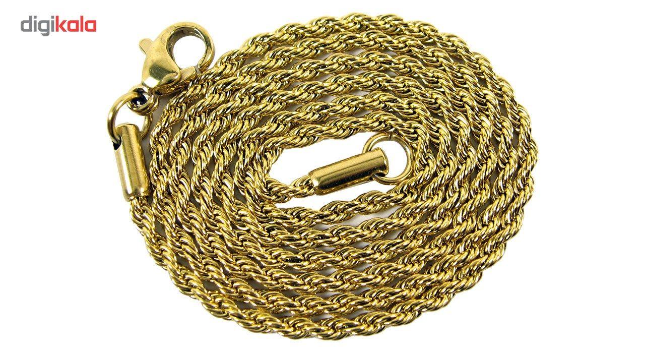 گردنبند استیل مانچو طرح طنابی مدل nm622 -  - 4