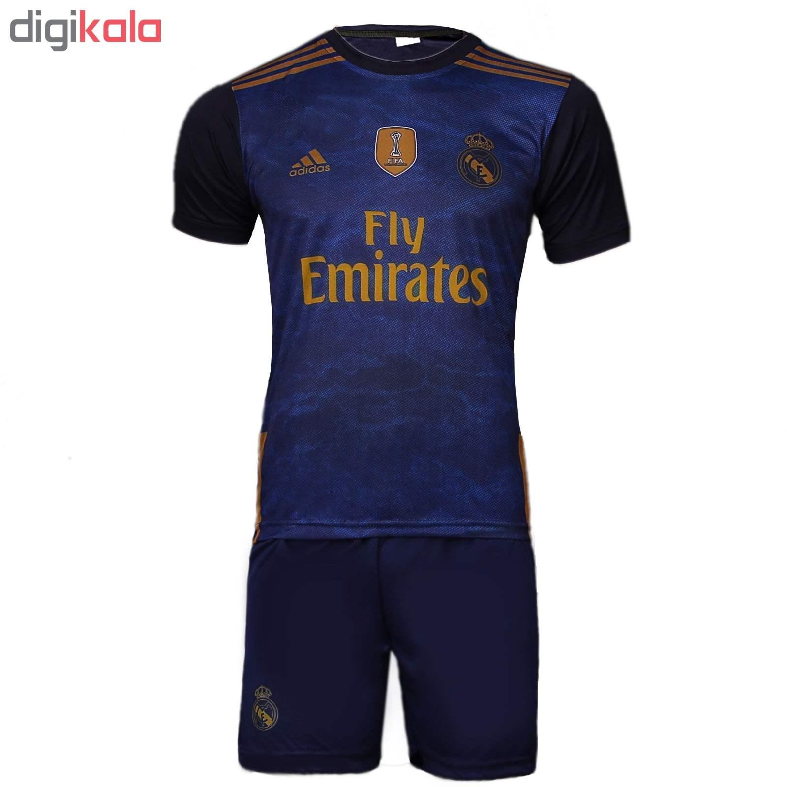 ست پیراهن و شورت ورزشی مردانه طرح رئال مادرید مدل HAZARD کد IR رنگ سرمه ای main 1 1