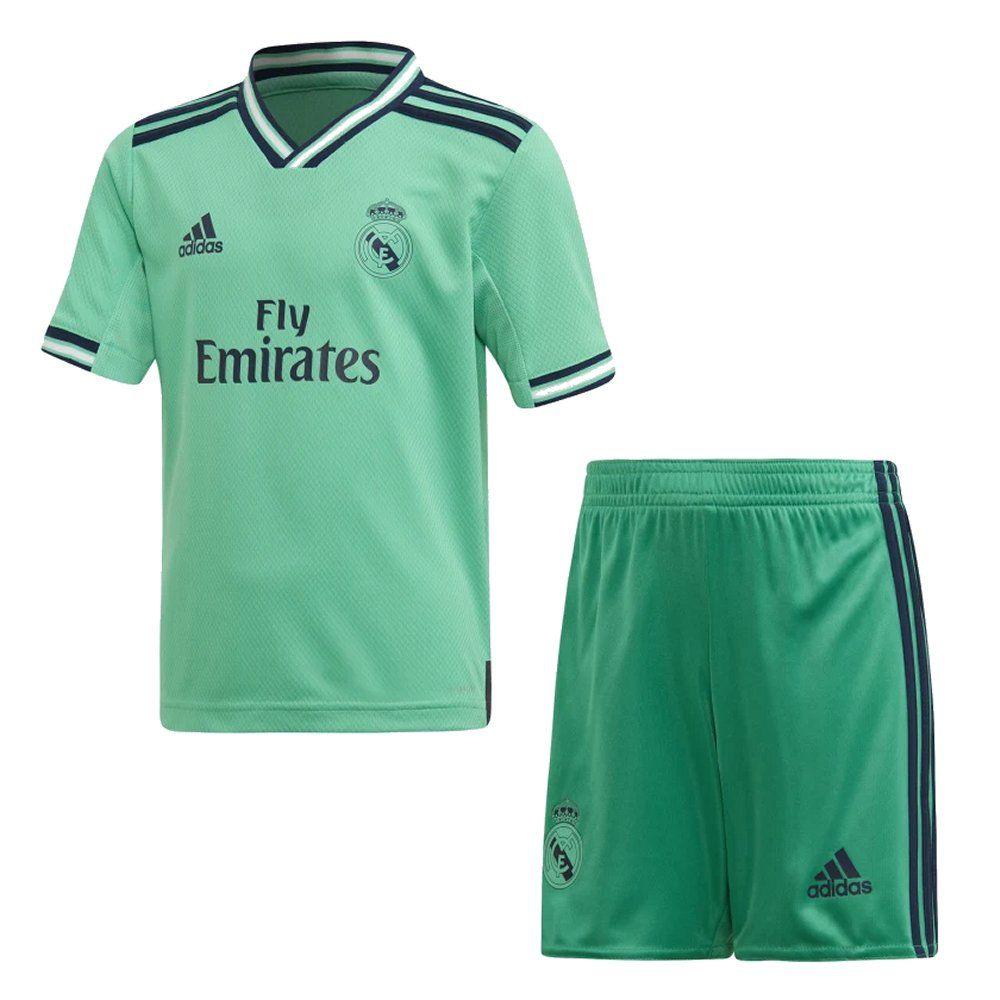 ست پیراهن و شورت ورزشی طرح رئال مادرید 20_2019 کد 3rd رنگ سبز