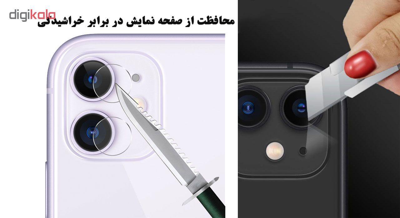محافظ لنز دوربین هورس مدل UTF مناسب برای گوشی موبایل اپل iPhone 11 بسته سه عددی main 1 6