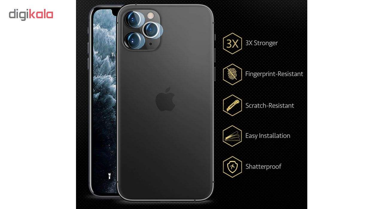 محافظ لنز دوربین هورس مدل UTF مناسب برای گوشی موبایل اپل iPhone 11 Pro بسته سه عددی main 1 5