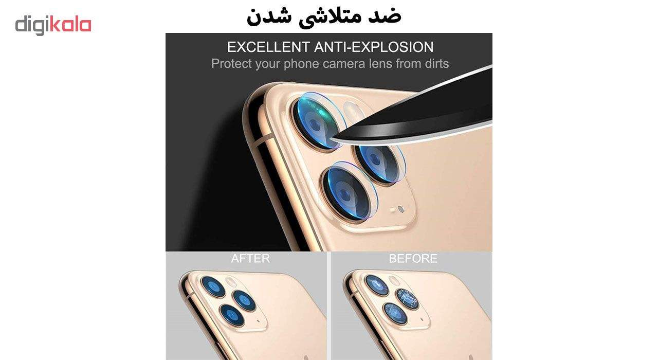 محافظ لنز دوربین هورس مدل UTF مناسب برای گوشی موبایل اپل iPhone 11 Pro Max بسته دو عددی main 1 10