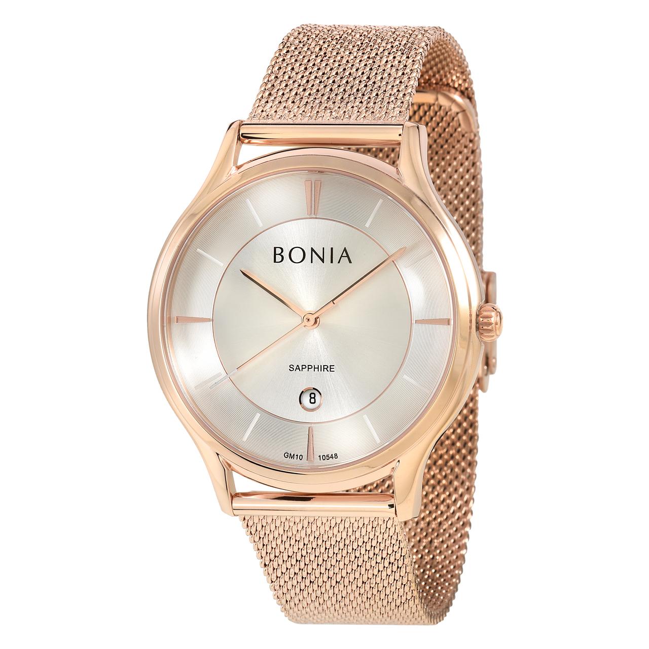 کد تخفیف                                      ساعت مچی عقربه ای مردانه بونیا کد BNB10548-1512