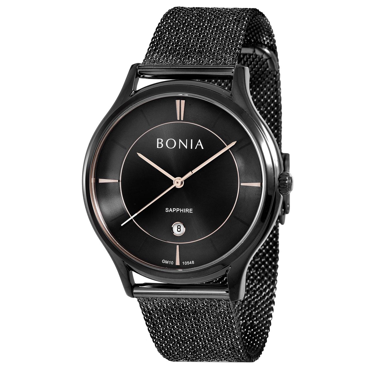 کد تخفیف                                      ساعت مچی عقربه ای مردانه بونیا کد BNB10548-1732