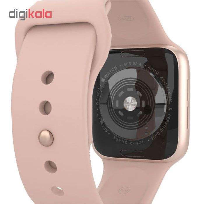 ساعت هوشمند اپل واچ سری 5 مدل 40mm Aluminum Case With Pink Sport Band main 1 3