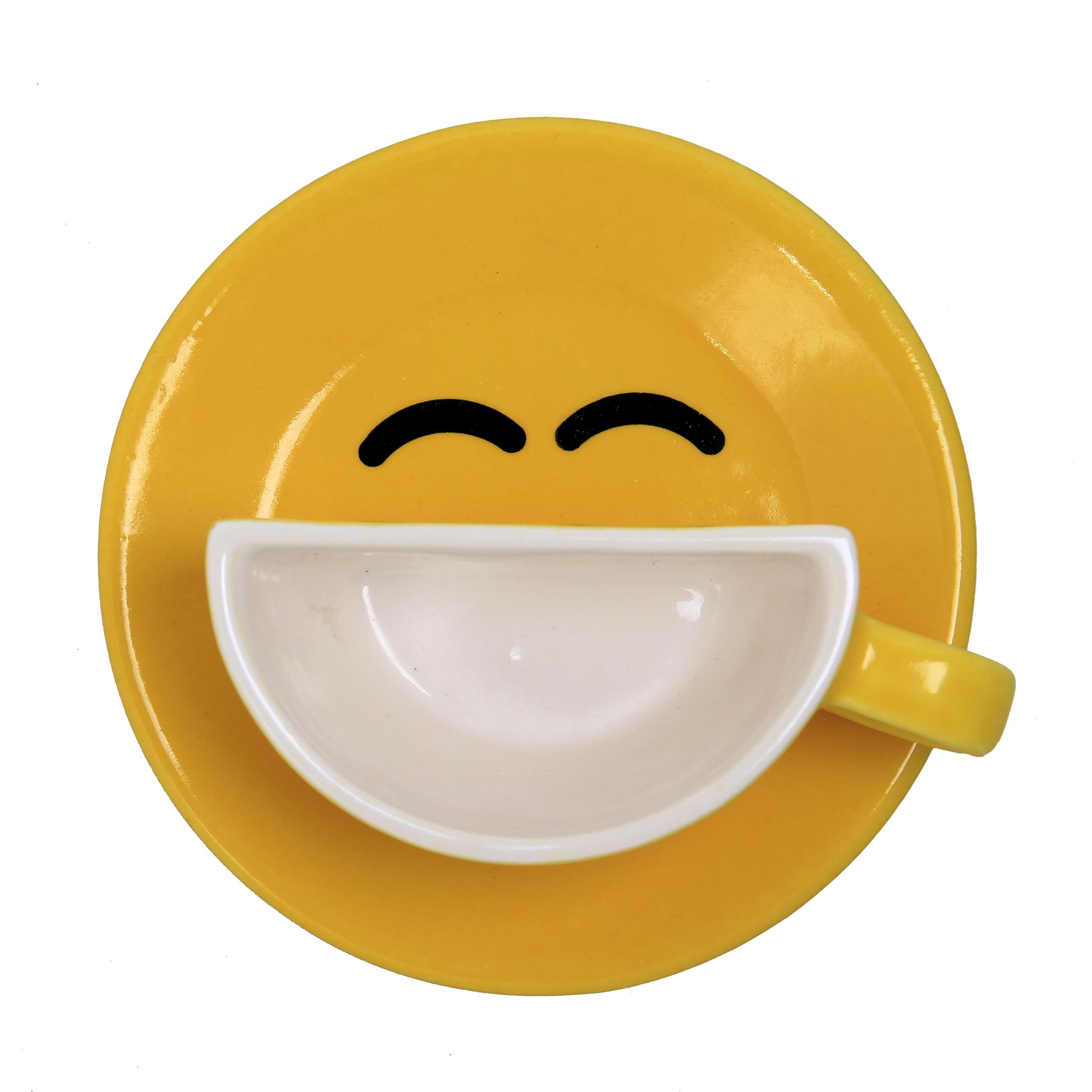 فنجان و نعلبکی طرح لبخند مدل Y01