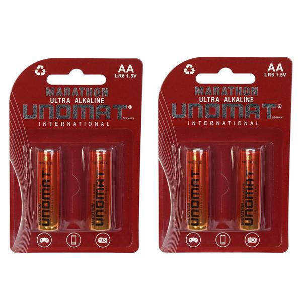باتری قلمی یونومات مدل Marathon Ultra بسته 4 عددی