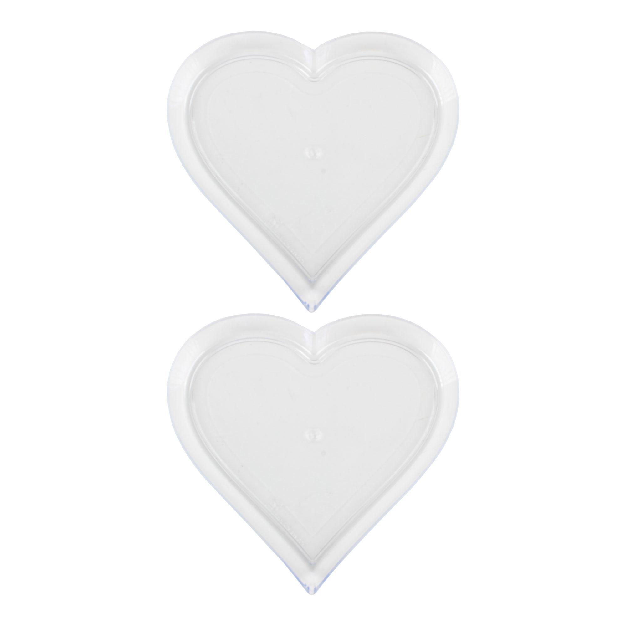 عکس سینی یکبارمصرف طرح قلب مدل S22 بسته 2 عددی