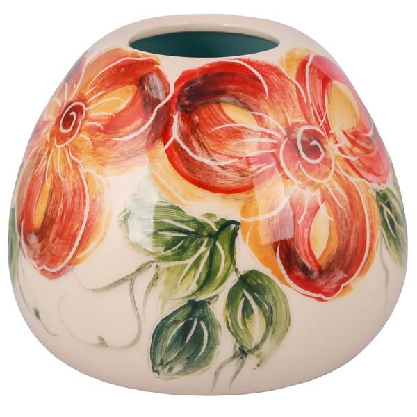 گلدان سرامیکی فرتاش طرح گلدار کد 171134