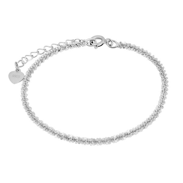 دستبند نقره زنانه اقلیمه کد DN372