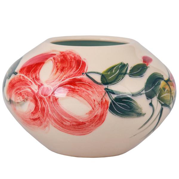 گلدان سرامیکی فرتاش طرح گلدار کد 171135