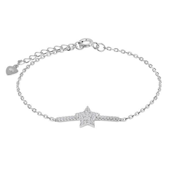 دستبند نقره زنانه اقلیمه کد DN445