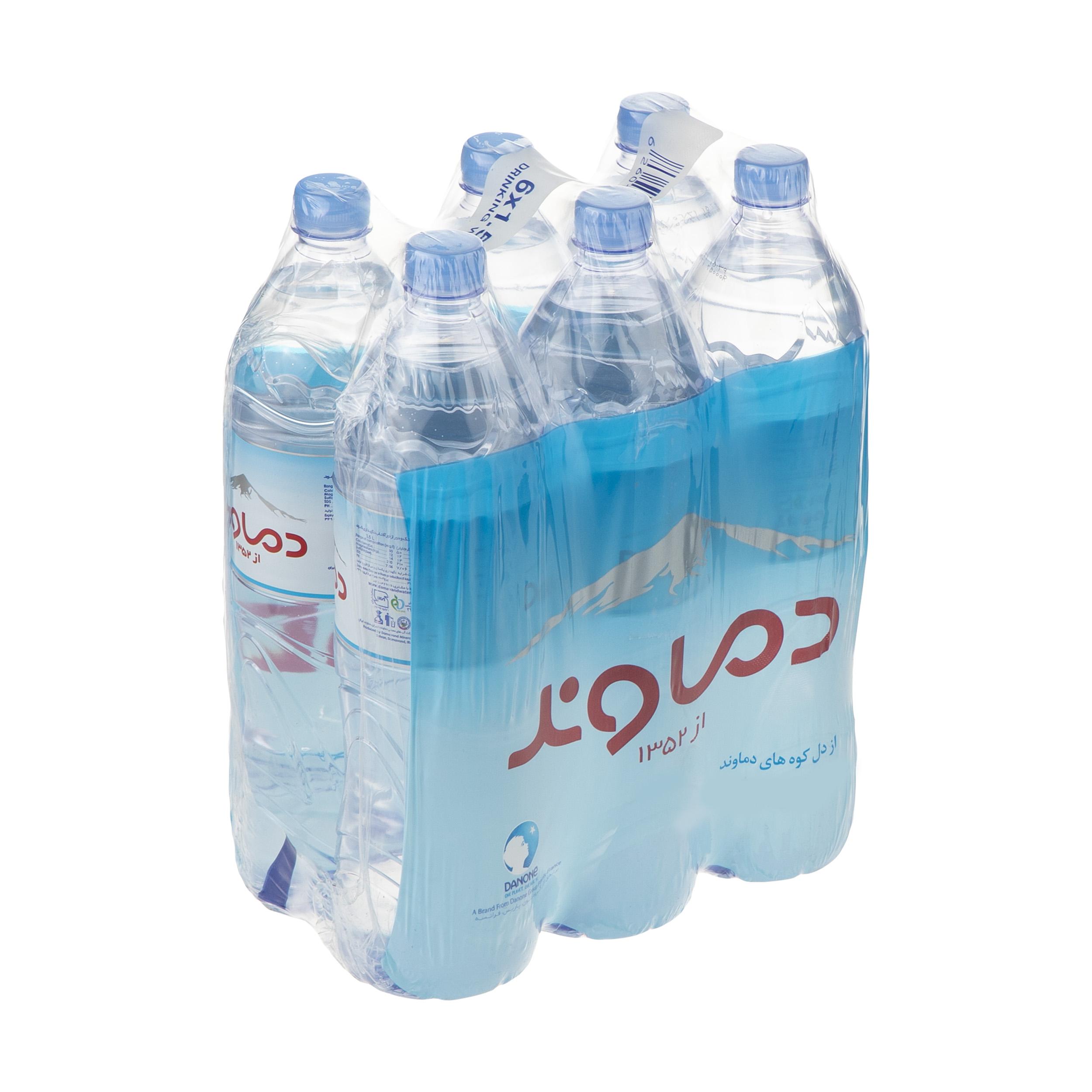 آب آشامیدنی دماوند حجم 1.5 لیتر بسته 6 عددی
