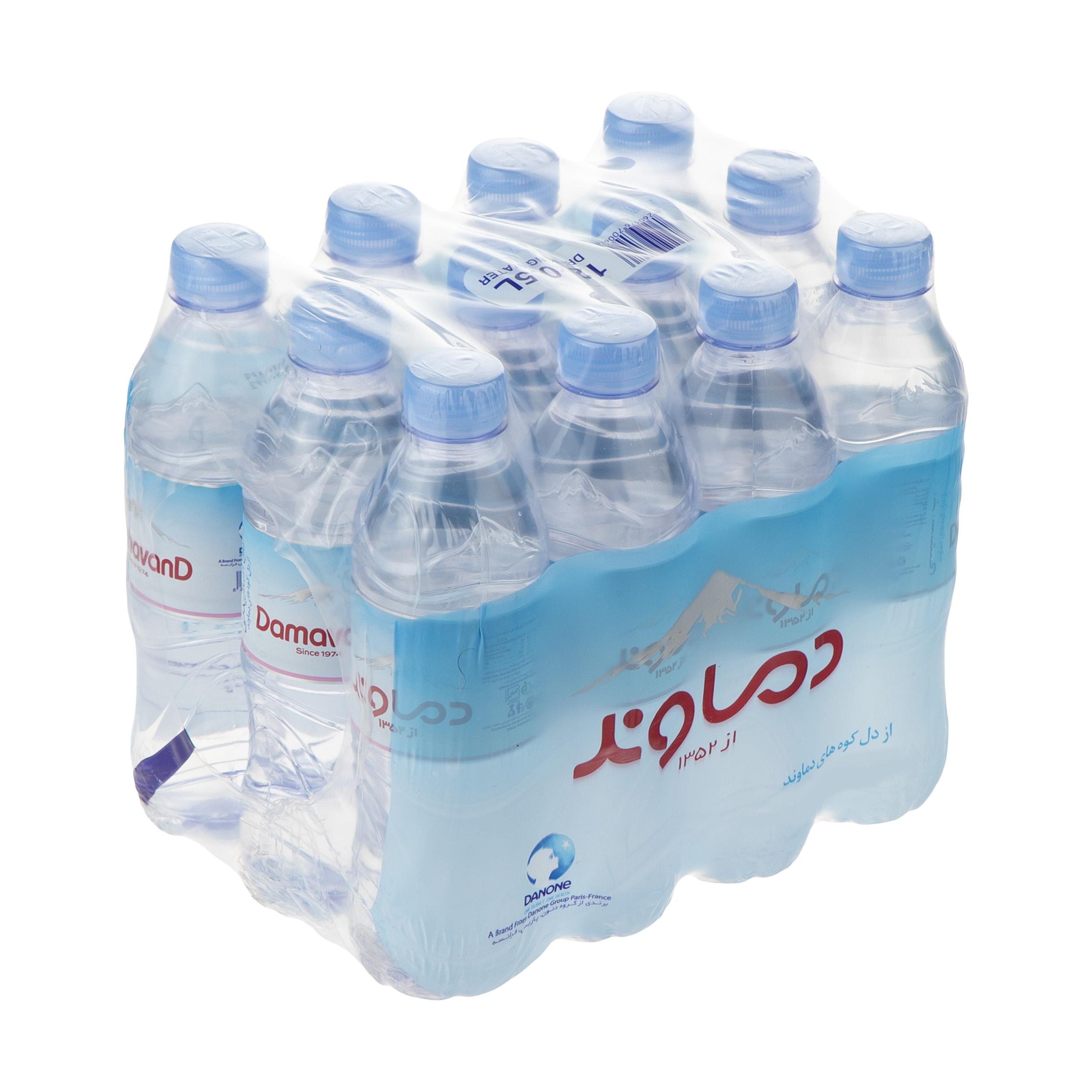 آب آشامیدنی دماوند حجم 500 میلی لیتر بسته 12 عددی