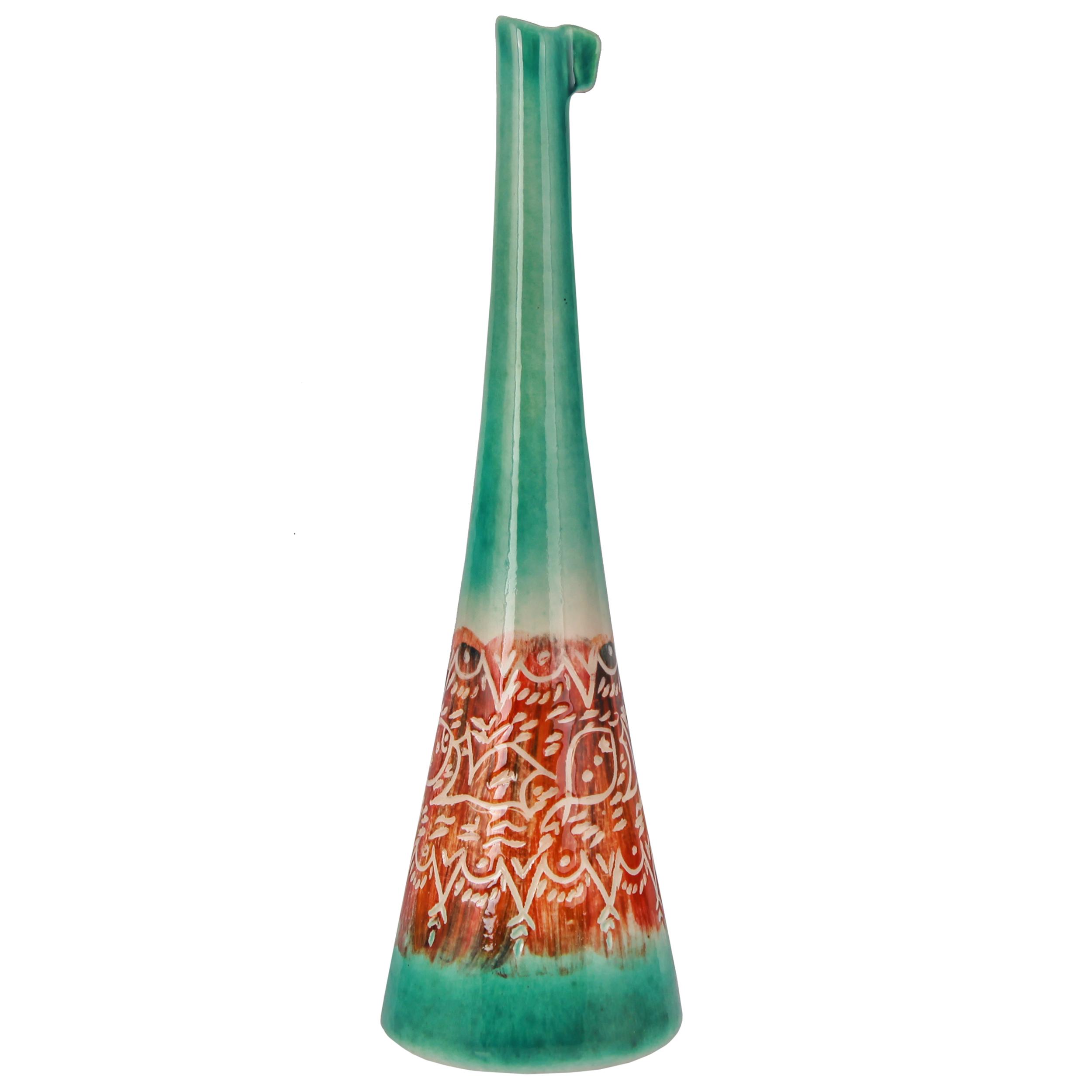گلدان سرامیکی فرتاش طرح تاش قلم کد 171146