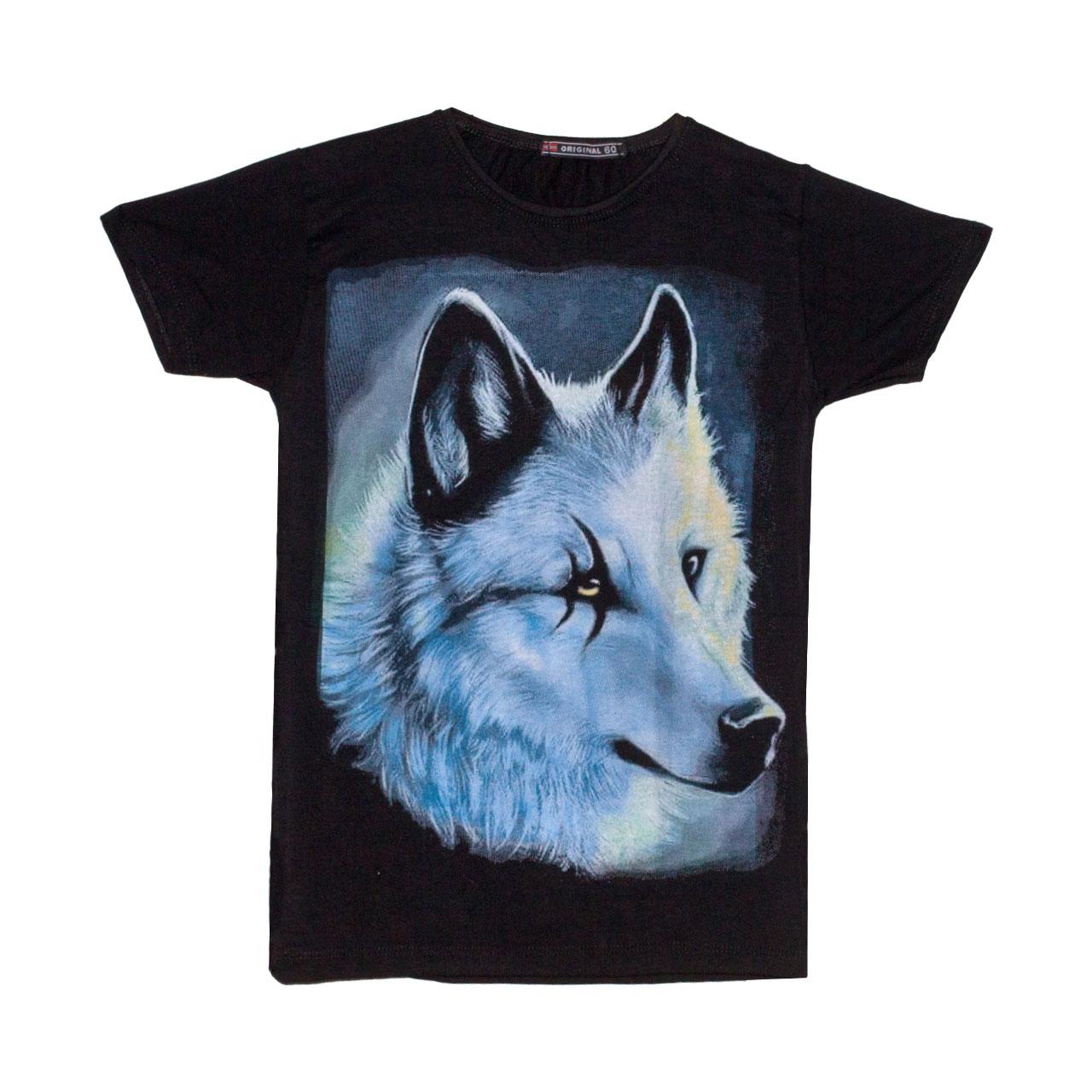 تصویر تی شرت پسرانه طرح گرگ کد 16