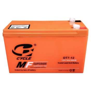 باتری یو پی اس 12 ولت 7 آمپر ساعت سایکل مدل OT7-12