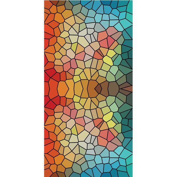 استیکر شیشه طرح رنگارنگ کد 8