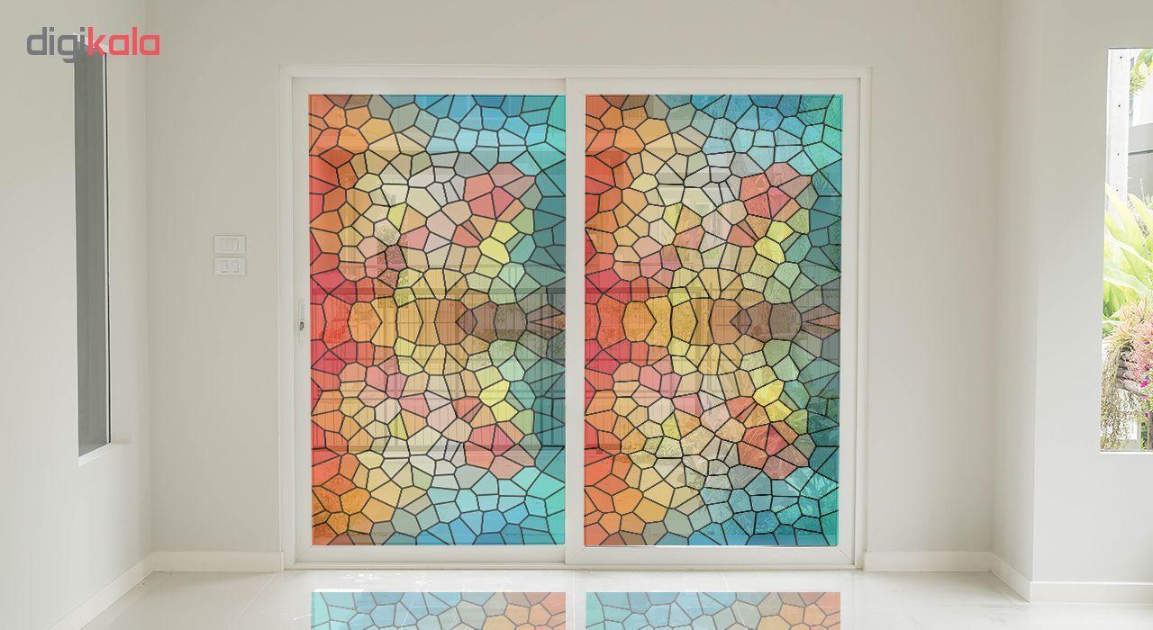 استیکر شیشه طرح رنگارنگ کد 8 main 1 1