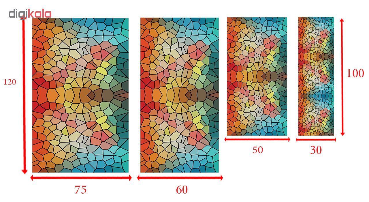 استیکر شیشه طرح رنگارنگ کد 8 main 1 2