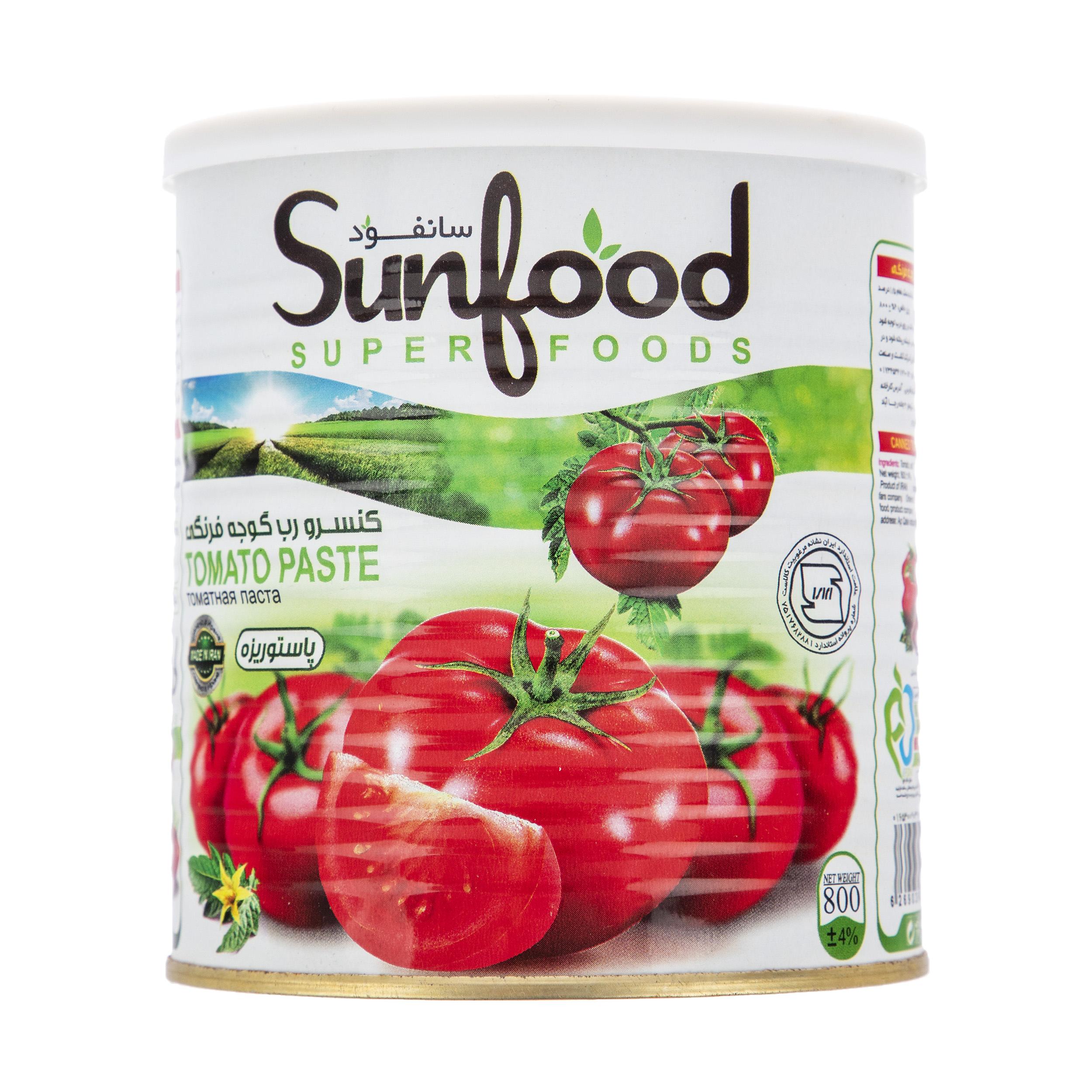 رب گوجه فرنگی سان فود مقدار 800 گرم