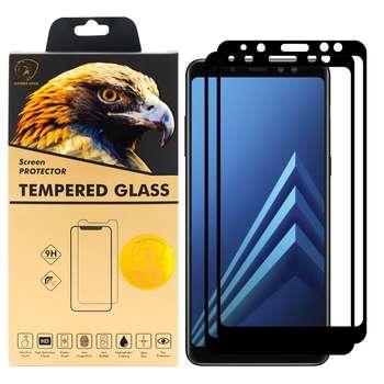 محافظ صفحه نمایش گلدن ایگل مدل DFC-X2 مناسب برای گوشی موبایل سامسونگ Galaxy A8 PLUS 2018 بسته دو عددی