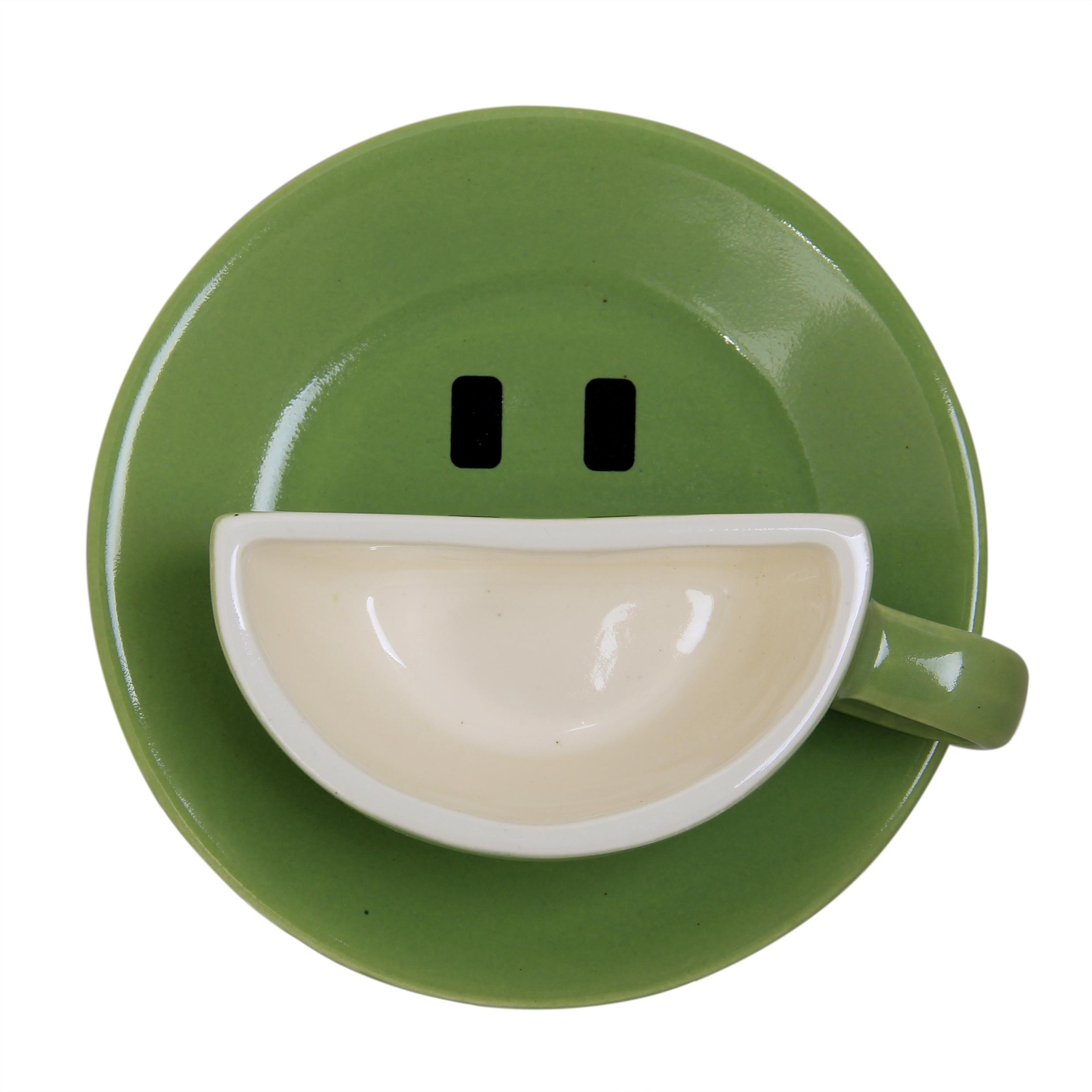 عکس فنجان و نعلبکی طرح لبخند مدل G01