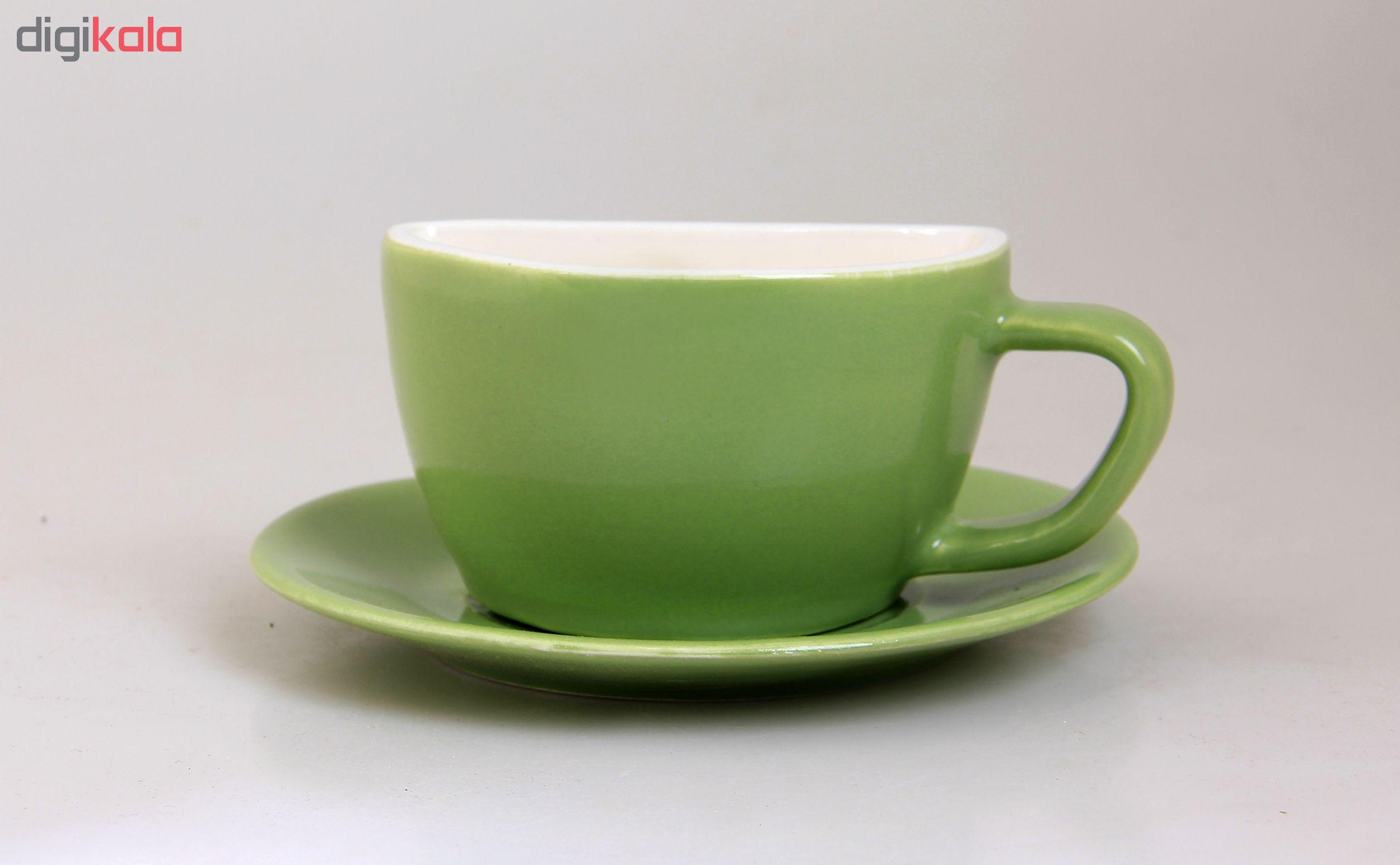 فنجان و نعلبکی طرح لبخند مدل G01