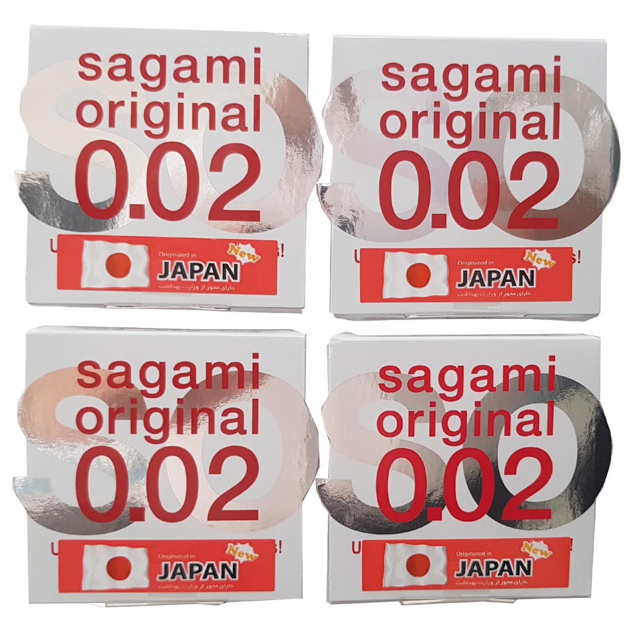 کاندوم ساگامی مدل نرمال بسته 4 عددی