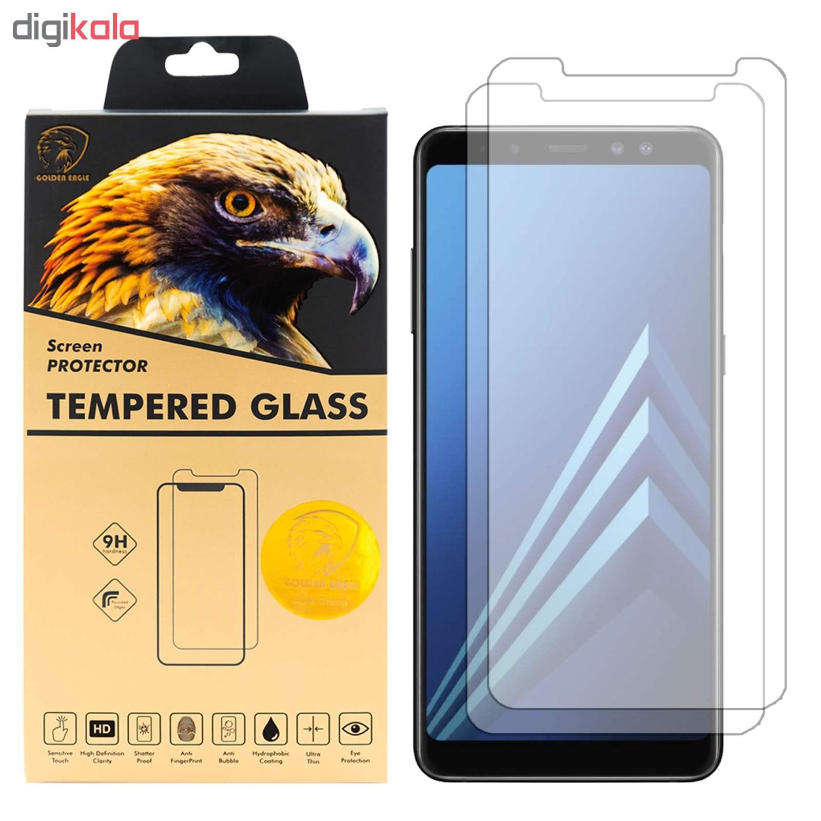 محافظ صفحه نمایش گلدن ایگل مدل GLC-X2 مناسب برای گوشی موبایل سامسونگ Galaxy A8 PLUS 2018 بسته دو عددی main 1 1