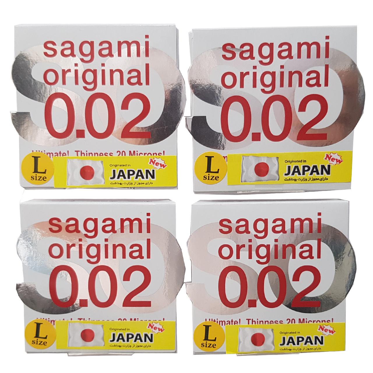کاندوم ساگامی مدل لارج بسته 4 عددی