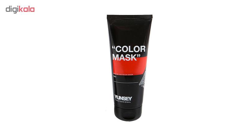 ماسک مو رنگساژ یانسی حجم 200 میلی لیتر کد 01 رنگ قرمز