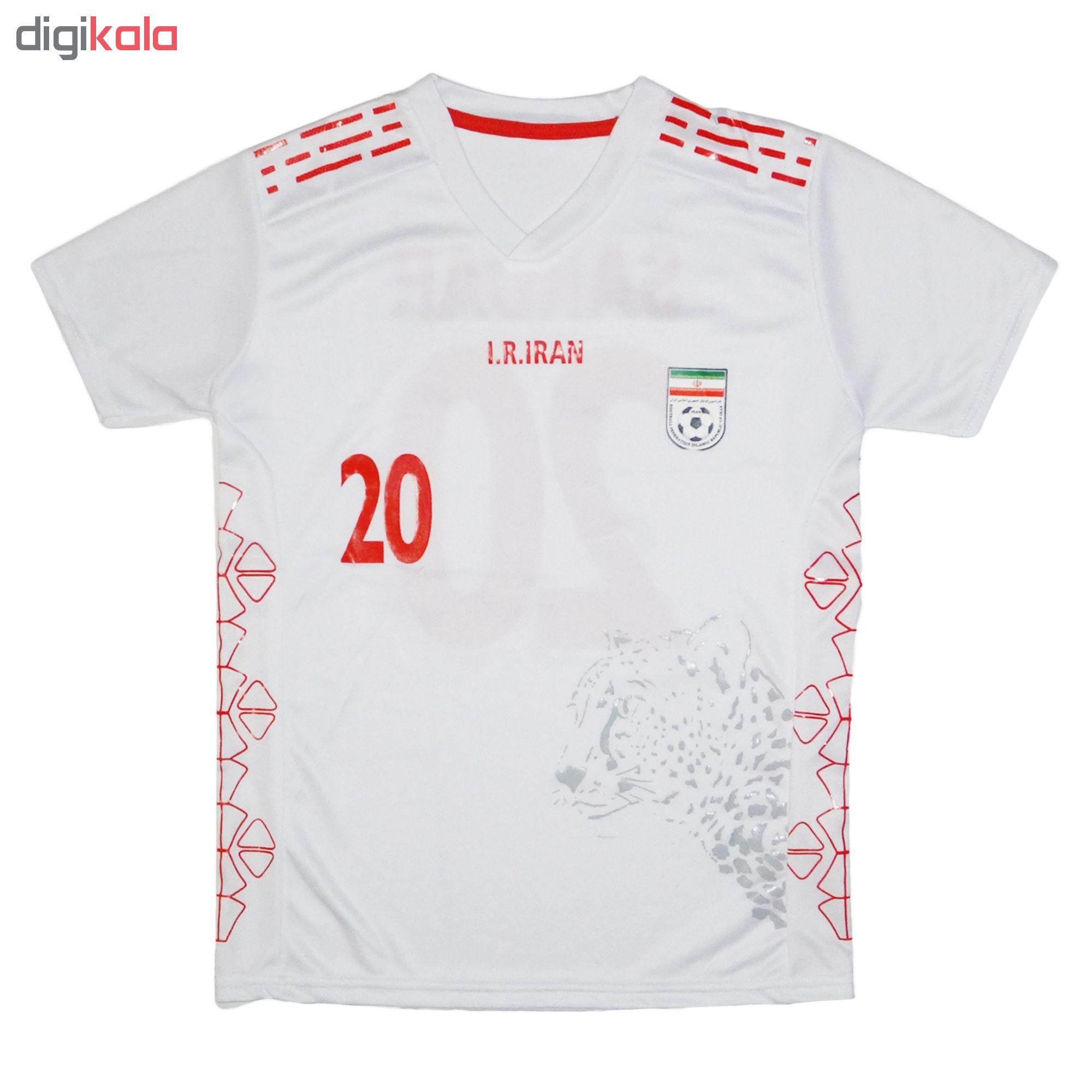 ست پیراهن و شورت ورزشی پسرانه طرح تیم ملی ایران کد 2020