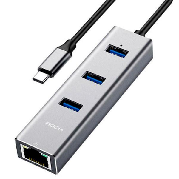 هاب 4 پورت USB-C راک مدل RCB0658