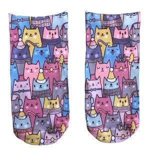 جوراب زنانه طرح گربه کد 2585