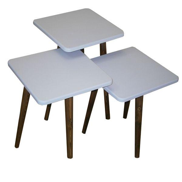میز عسلی مدل 123 کد 06 مجموعه 3 عددی